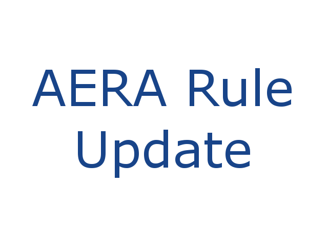 AERA Rule Update